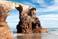 Playa de catedrales, Galicia, España imagen de archivo libre de regalías