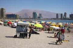 Playa de Cavancha en Iquique, Chile Imágenes de archivo libres de regalías