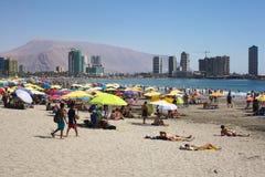 Playa de Cavancha en Iquique, Chile Imagenes de archivo