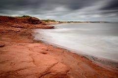 Playa de Cavendish como acercamientos de Arturo del huracán Imagenes de archivo