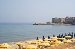 Playa de Cefalù Fotografía de archivo libre de regalías