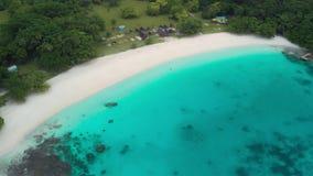 Playa de Champán, Vanuatu, isla de Espiritu Santo, Luganville, South Pacific almacen de metraje de vídeo