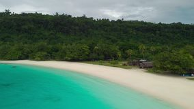 Playa de Champán, Vanuatu, isla de Espiritu Santo, Luganville, South Pacific almacen de video