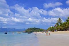 Playa de Chenang en Langkawi, Malasia foto de archivo