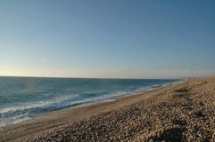 Playa de Chesil Fotos de archivo