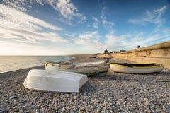 Playa de Chesil en Dorset foto de archivo