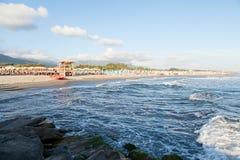 Playa de Cinquale Fotos de archivo libres de regalías