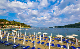 Playa de Cinque Terre en Italia Fotos de archivo