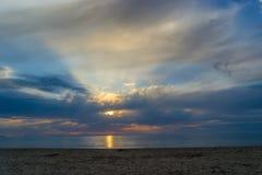 Playa de Cinta del La, amanecer divino, San Teodoro, Cerdeña, Italia fotos de archivo libres de regalías