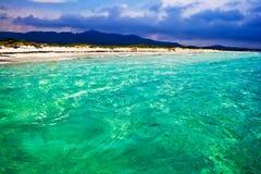Playa de Cinta del La en Cerdeña foto de archivo