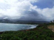 Playa de Clissolds del punto de Laie, Oahu, Hawaii fotos de archivo libres de regalías