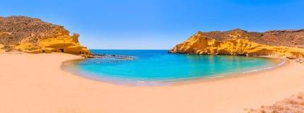 Playa de Cocedores en Murcia cerca de Aguilas España Fotografía de archivo libre de regalías