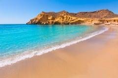 Playa de Cocedores en Murcia cerca de Aguilas España Imagen de archivo libre de regalías