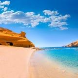 Playa de Cocedores en Murcia cerca de Aguilas España Imagenes de archivo