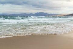 Playa de Cofete en Fuerteventura, islas Canarias Imágenes de archivo libres de regalías