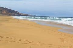 Playa de Cofete en Fuerteventura, islas Canarias Fotografía de archivo libre de regalías