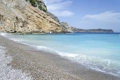 Playa de Coll Baix en Mallorca imagenes de archivo