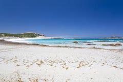 Playa de color salmón Esperance fotografía de archivo