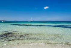 Playa de Comino de la ceja Imagen de archivo