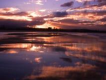 Playa de Coolangatta de la alta marea imágenes de archivo libres de regalías