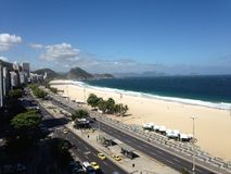 Playa de Copacabana Imagenes de archivo