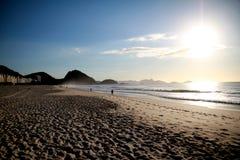Playa de Copacabana en Rio de Janeiro Fotografía de archivo