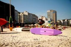 Playa de Copacabana en Rio de Janeiro Imagen de archivo