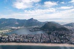 Playa de Copacabana en Rio de Janeiro Imágenes de archivo libres de regalías