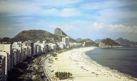 Playa de Copacabana, Rio de Janeiro Imágenes de archivo libres de regalías