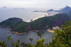 Playa de Copacabana, Rio de Janeiro, el Brasil Imagen de archivo