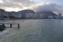 Playa de Copacabana, Rio de Janeiro - el Brasil Fotos de archivo