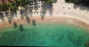 Playa de Coral Cove de la visión superior en Koh Samui de Tailandia almacen de video