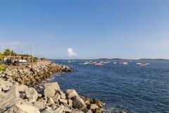 Playa de Corinto de Nicaragua en diciembre Imagen de archivo libre de regalías
