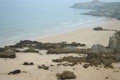 Playa de Cornualles fotografía de archivo libre de regalías