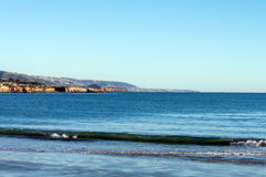 Playa de Corona Del Mar, playa California de Newport Foto de archivo