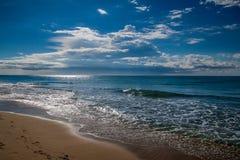 Playa de Costa Dorada imagen de archivo