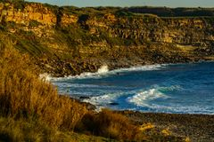 Playa de Coxos en el pueblo de Ericeira, Portugal Fotografía de archivo libre de regalías