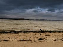 Playa de Cramond fotografía de archivo libre de regalías