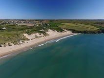Playa de Crantock Fotos de archivo libres de regalías