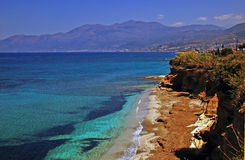 Playa de Creta Imágenes de archivo libres de regalías