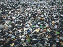 Playa de cristal fotos de archivo