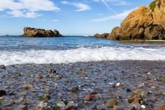 Playa de cristal, Fort Bragg California Imagenes de archivo