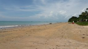 Playa de Cumuruxatiba Imagenes de archivo