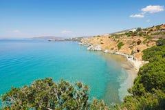 Playa de Delavogia en Andros, Grecia Foto de archivo libre de regalías