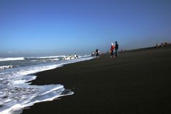 Playa de Depok Foto de archivo