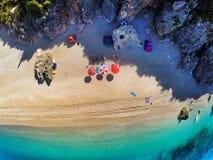 Playa de Dhermi Imagen de archivo libre de regalías