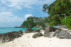 Playa de Diniwid, Boracay, Filipinas Foto de archivo