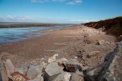 Playa de Doniford, Exmoor, Reino Unido imagen de archivo libre de regalías