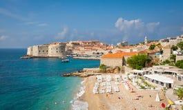 Playa de Dubrovnik Imagenes de archivo