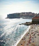 Playa de Dubrovnik Fotografía de archivo libre de regalías
